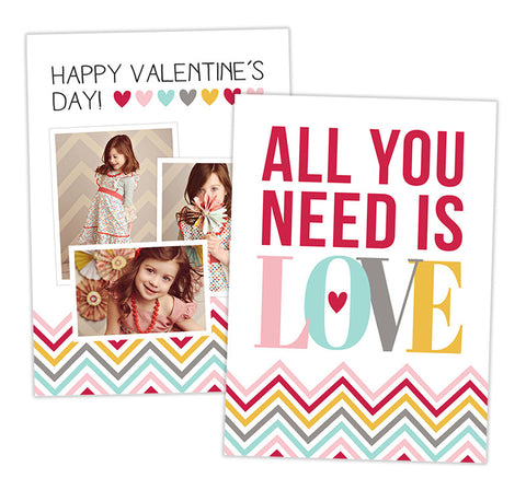 Valentine's Photo Card | All You Need is Love