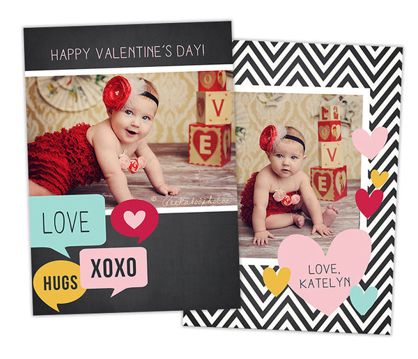 Valentine's Photo Card | Speech Bubbles