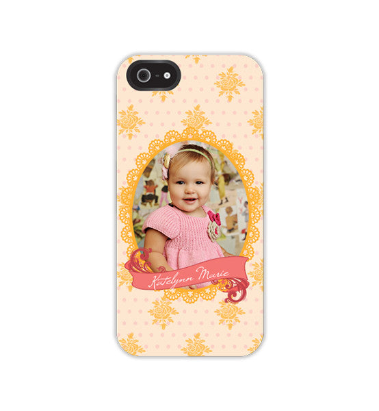 iPhone Case or Skin  | Polka Dot Rose