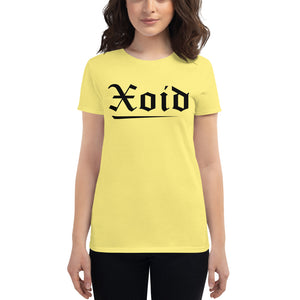 Black XOID Women's Short Sleeve T-Shirt