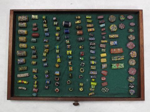 Collection of Venetian Beads of Millefiori Glass