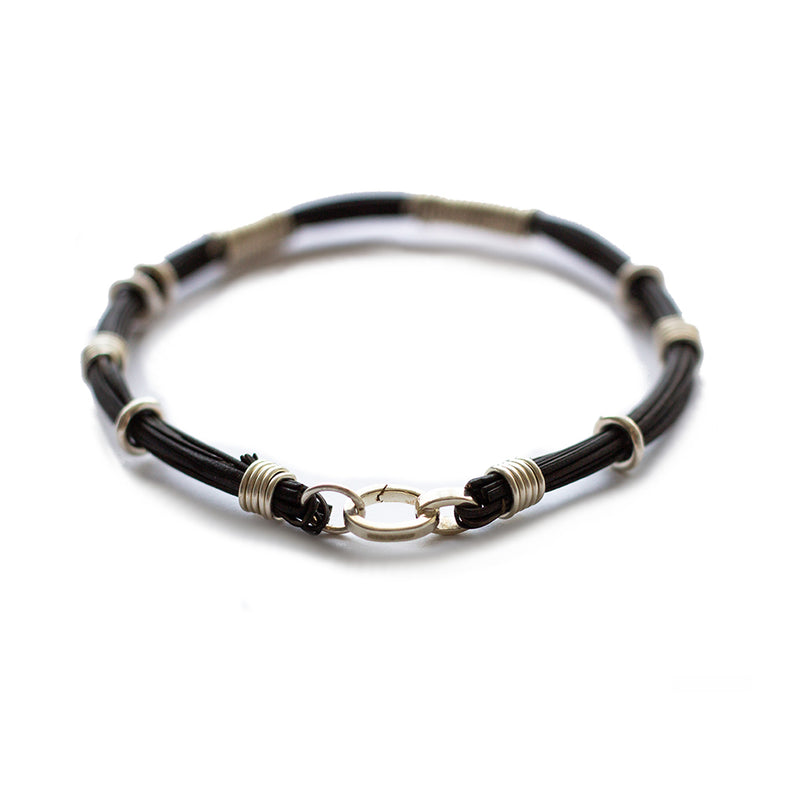 Affinity Bracelet Recycled Sterling Silver & Plant Fibre