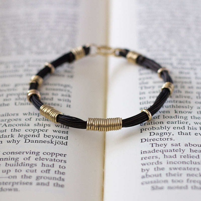 Affinity Bracelet Recycled 14k Yellow Gold & Plant Fibre