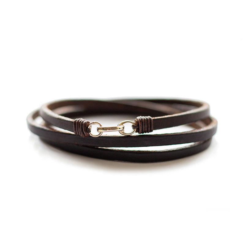Trinity_AL Bracelet Dark Havana English Bridle Leather