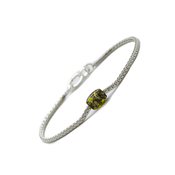Token Bracelet for Alignment & Radiance - Green Baltic Amber