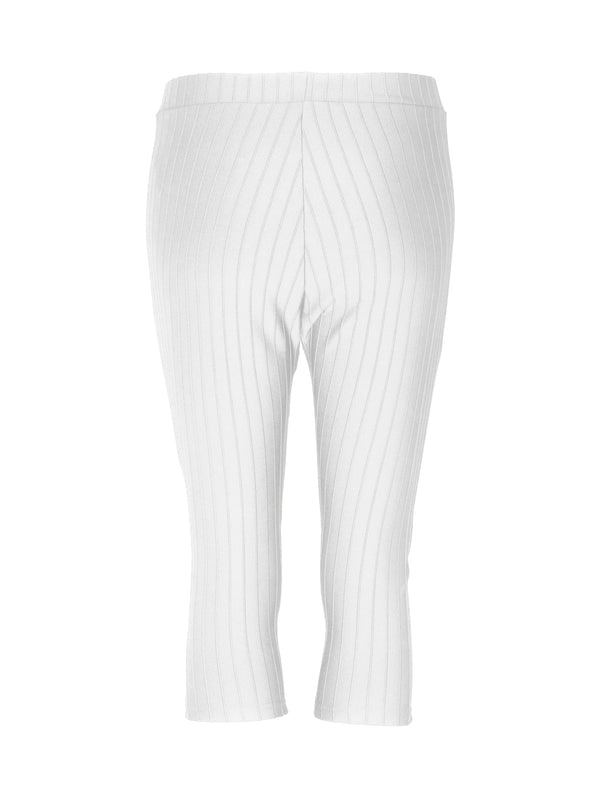 ACOLÉ BANI CAPRI LEGGINGS Shorts 001 White