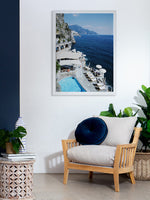CLIFFS OF CAPRI 84 X 105 CM PRINT FRAMED