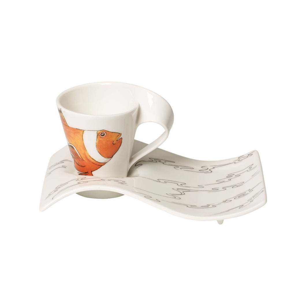 Nwc Clownfish espresso cup with plate 6 person