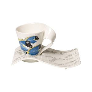 Nwc Surge.Fish coffee cup with plate 6 person