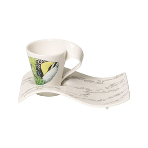 Nwc Trigg.Fish espresso cup with plate 6 person