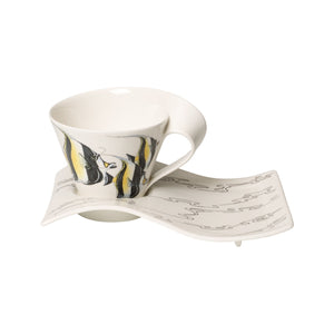 Nwc Moori.Idol white coffee cup with plate 6 person