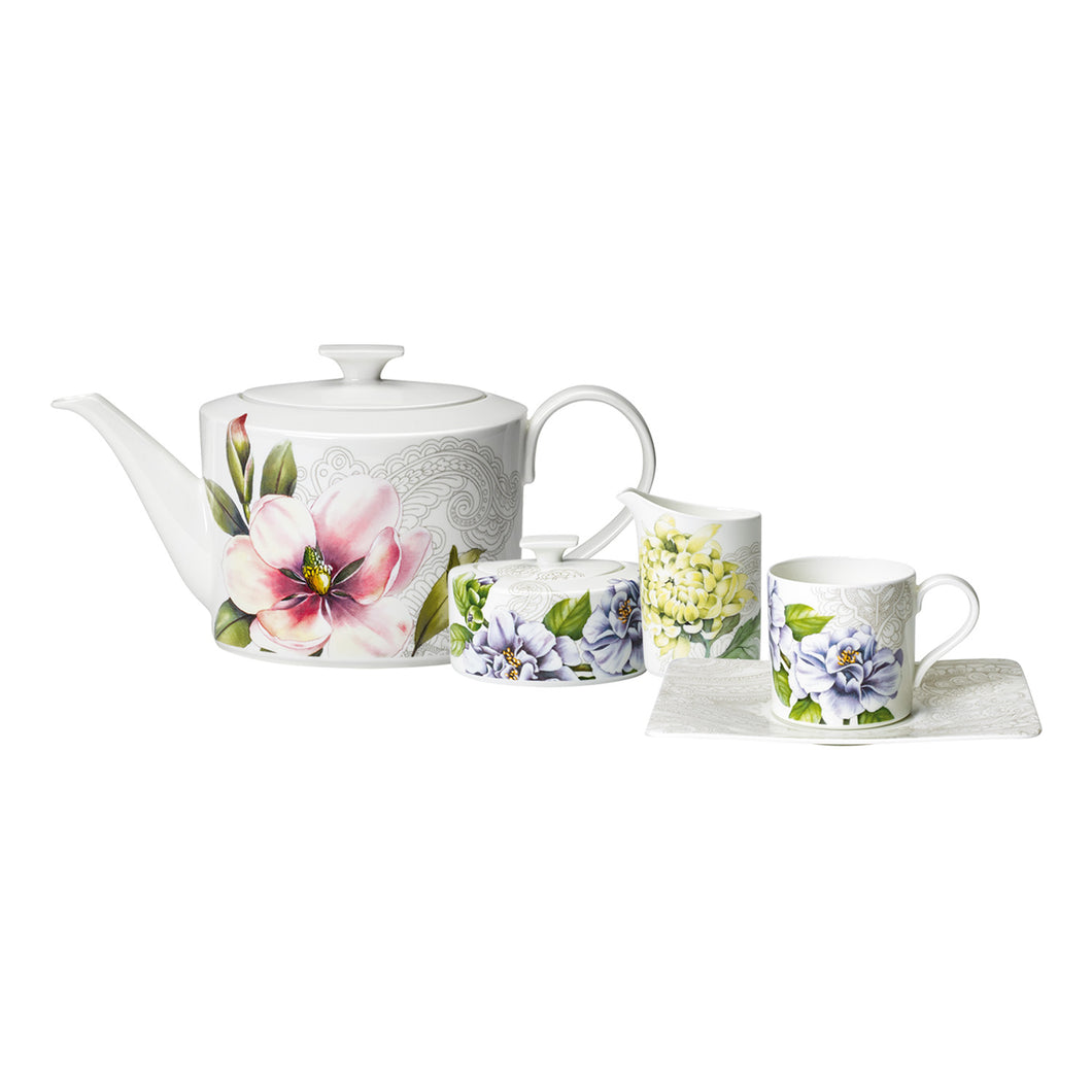 Quinsai Garden tea/coffee Set 6 person on 15 pieces