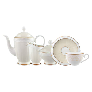 Ivoire Coffee Set 6 person on 15 pieces