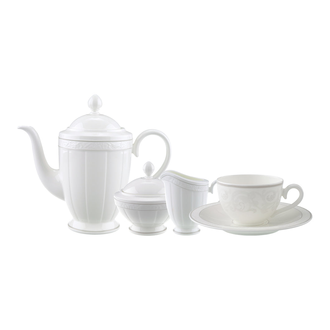Gray Pearl tea/coffee Set 6 person on 15 pieces