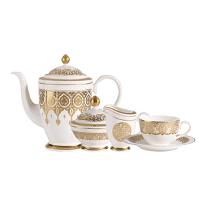 Golden Oasis tea/coffee Set 6 person on 15 pieces