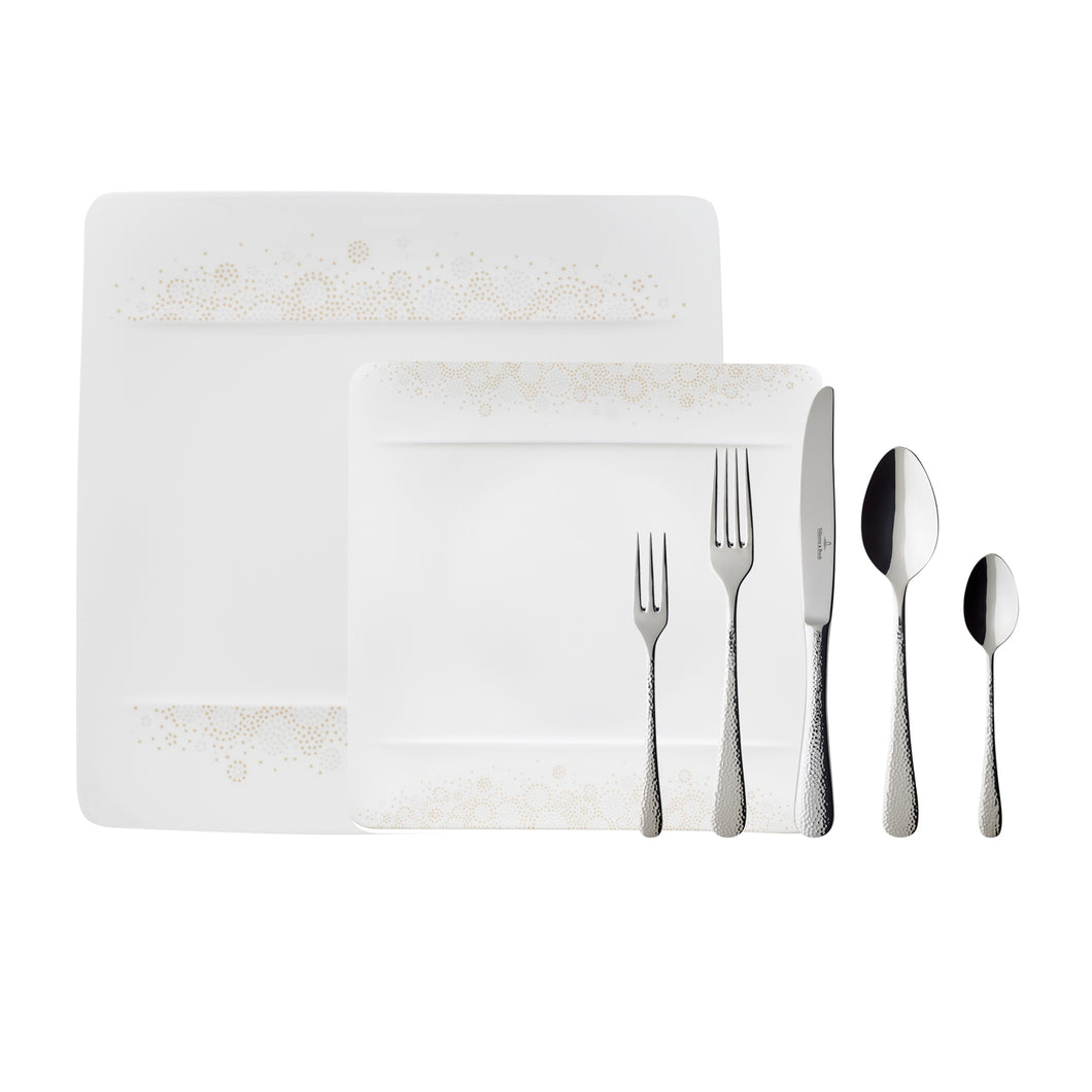 Modern Grace Grey Dinner Set 6 person on 13 pieces