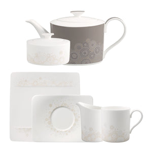 Modern Grace Grey Tea Set 6 person on 21 pieces