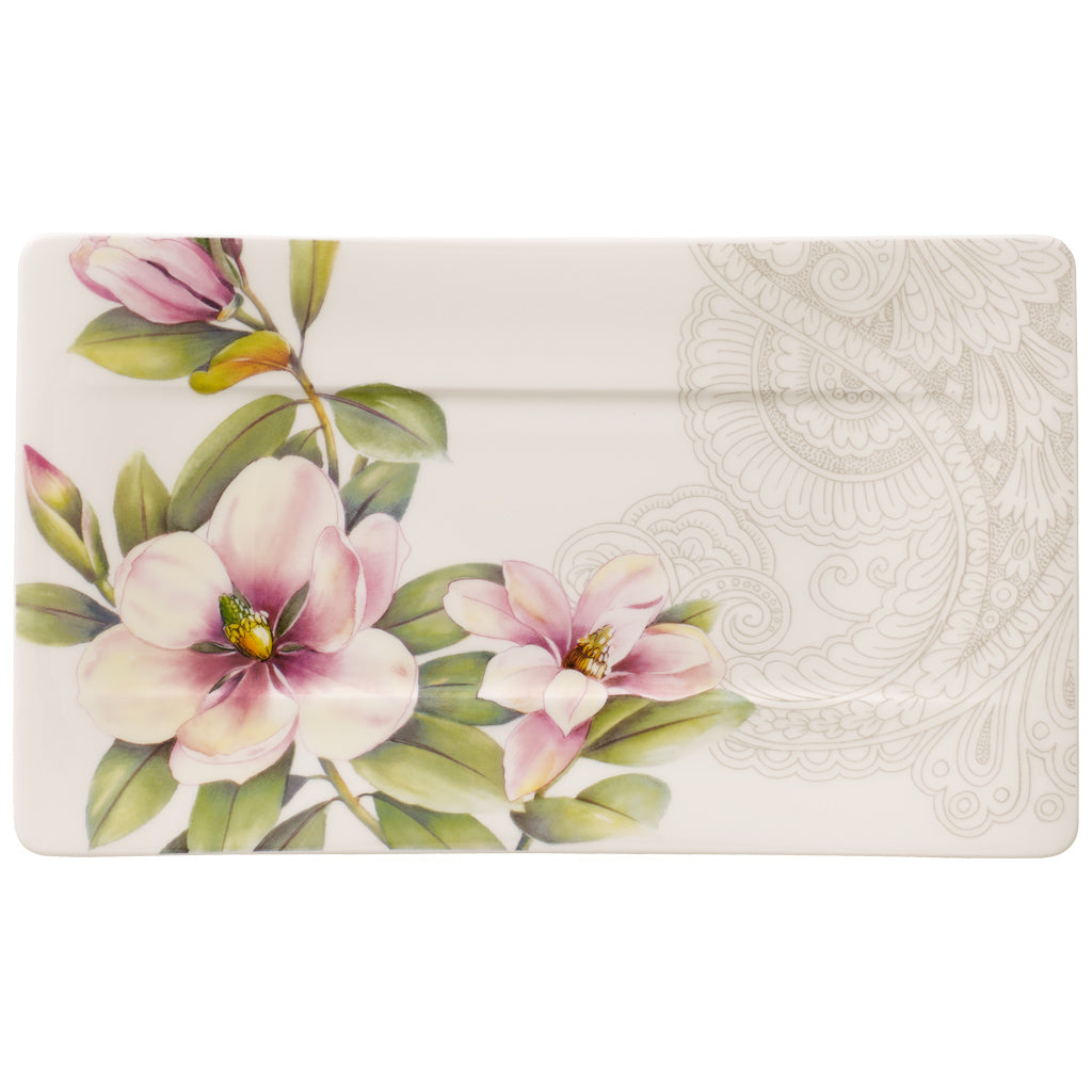 Quinsai Garden small serving plate 24x14 cm