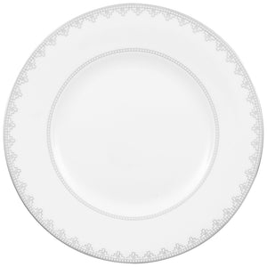 White Lace Dinner Set 6 person on 22 pieces