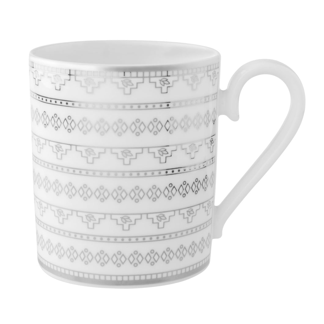 White Lace Mug Set 6 person on 6 pieces