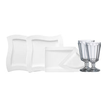 Load image into Gallery viewer, NewWave Dinner Set with glasses 4  person on 22 pieces