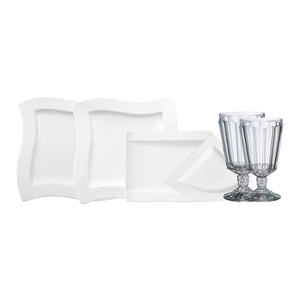 NewWave Dinner Set with glasses 4  person on 22 pieces