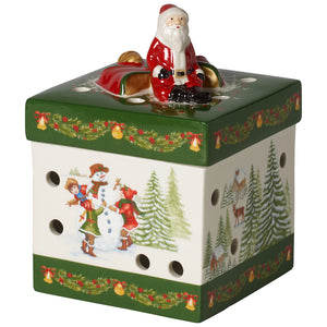 Christmas Toys - Gift box small, square,Santa