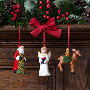 Nostalgic Ornaments Orn. Santa, Angel, Deer, Set 3pcs (Only Available in Lebanon)