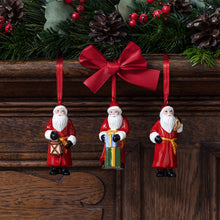 Load image into Gallery viewer, Nostalgic Ornaments Ornaments Santa Claus, set 3pcs 8x3,5cm