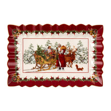 Load image into Gallery viewer, Toy's Fantasy Cake plate rectangular, Santa & sleigh