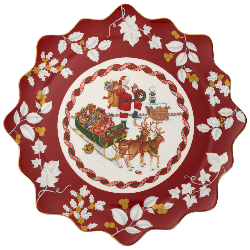 Toy's Fantasy - Pastry plate. large, Santa roof