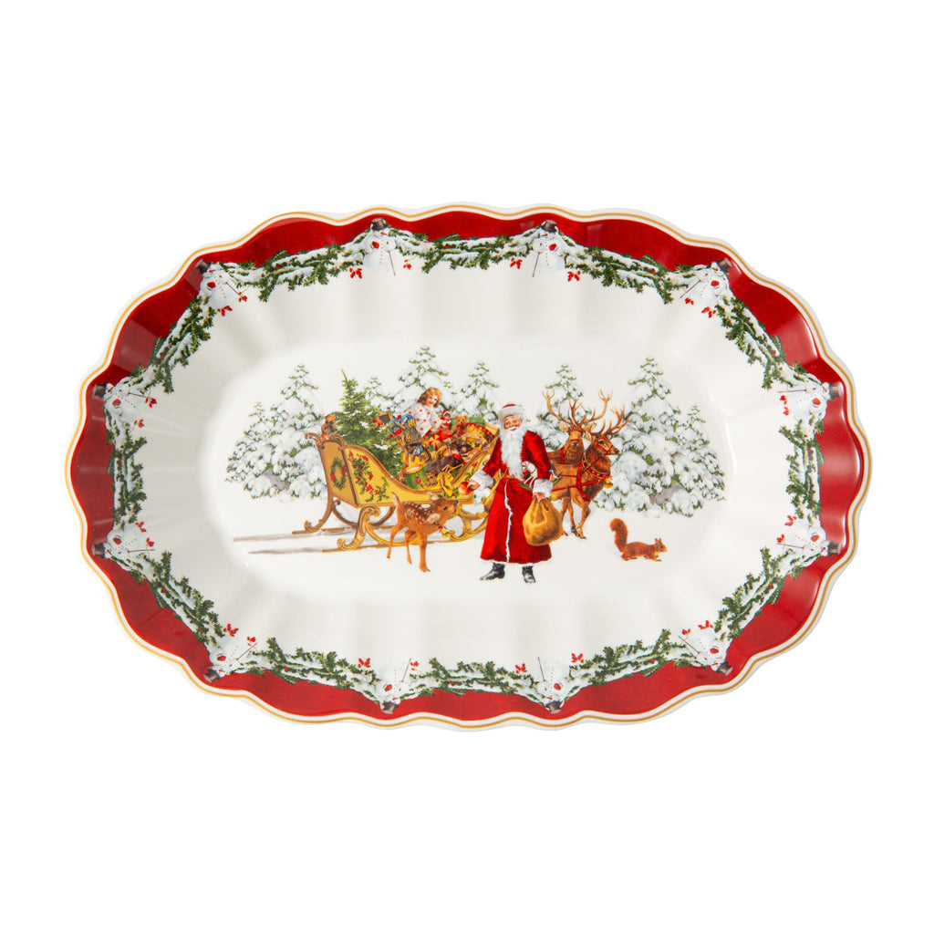 Toy's Fantasy Bowl oval lg., Santa with sleigh (Only Available in Lebanon)