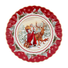 Load image into Gallery viewer, Toy's Fantasy Bowl large, Santa & forest animals