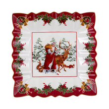 Load image into Gallery viewer, Toy's Fantasy Bowl square, Santa with forest animals