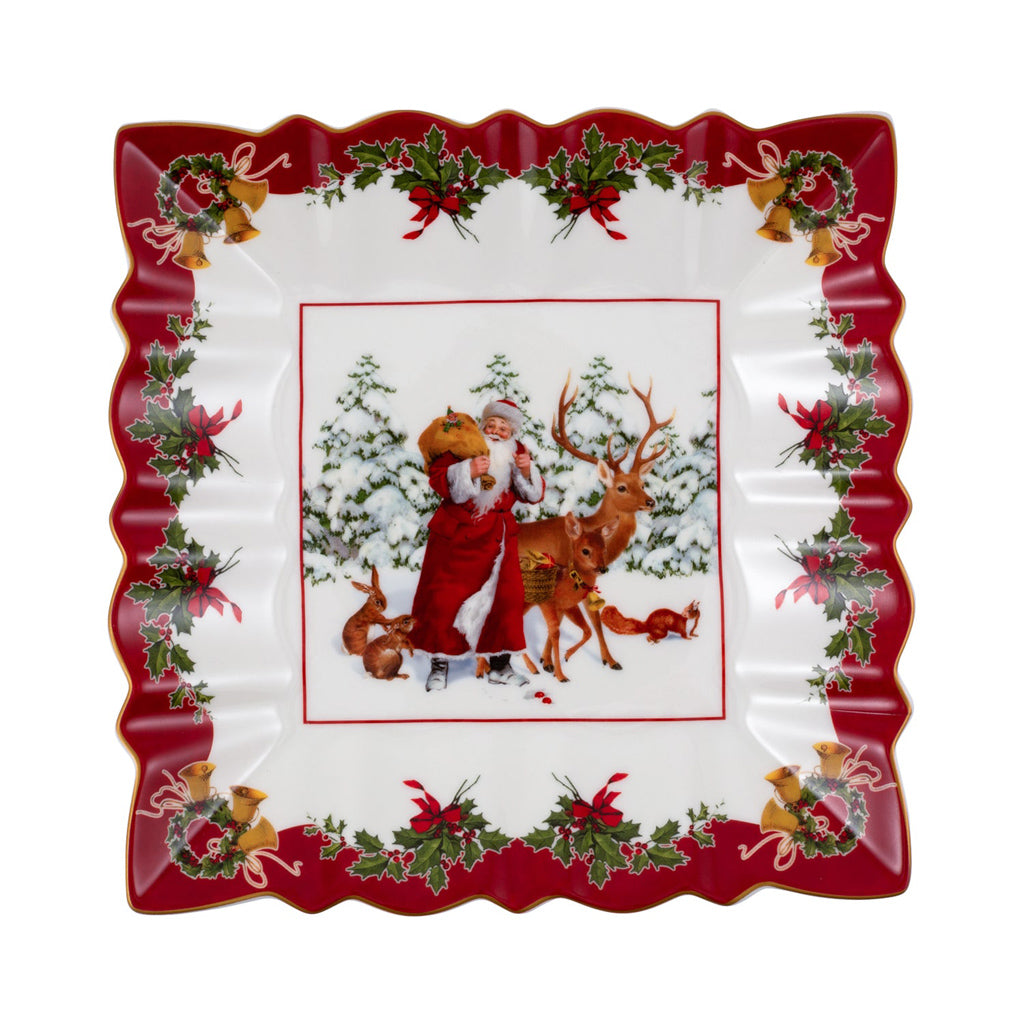 Toy's Fantasy Bowl square, Santa with forest animals