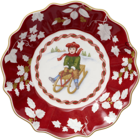 Toy's Fantasy - Footed bowl small, sleigh