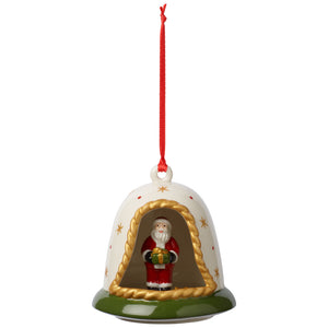 MyChristm.Tree Ornament Bell with Santa