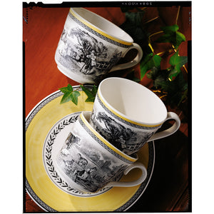 Audun Ferme breakfast cups with saucers set 6  person