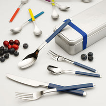 Load image into Gallery viewer, S+ Blueberry Cutlery set 6  person on 30 pieces