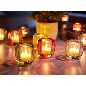 Colored Delight Small Tealight Holder. Lemon Pie 7.5cm