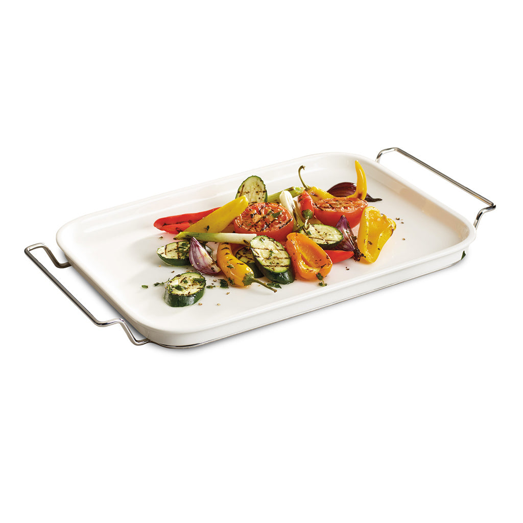 Clever Cooking Serving plate with rack 42x22cm