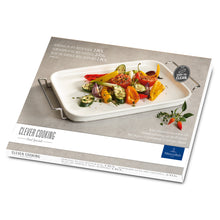 Load image into Gallery viewer, Clever Cooking Serving plate with rack 42x22cm