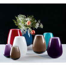 Load image into Gallery viewer, Drop large vase Dark Lilac 23cm