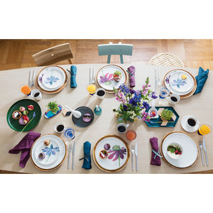 Artesano Flower Art Dinner Set 6  person on 24 pieces