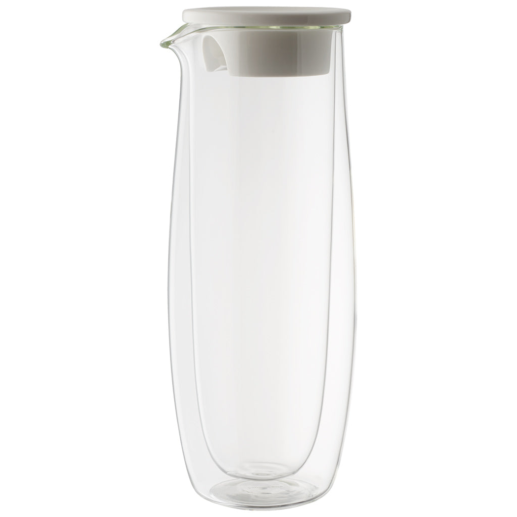 Artesano Hot&Cold Beverages Glass Caraffe with Lid 1L