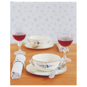 Old Luxembourg soup cup with saucer set 6 person