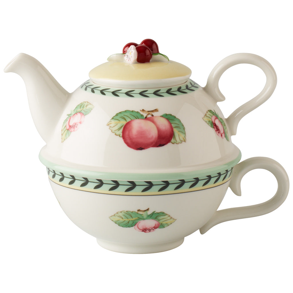 French Garden Charm Teapot and cup For 1 person