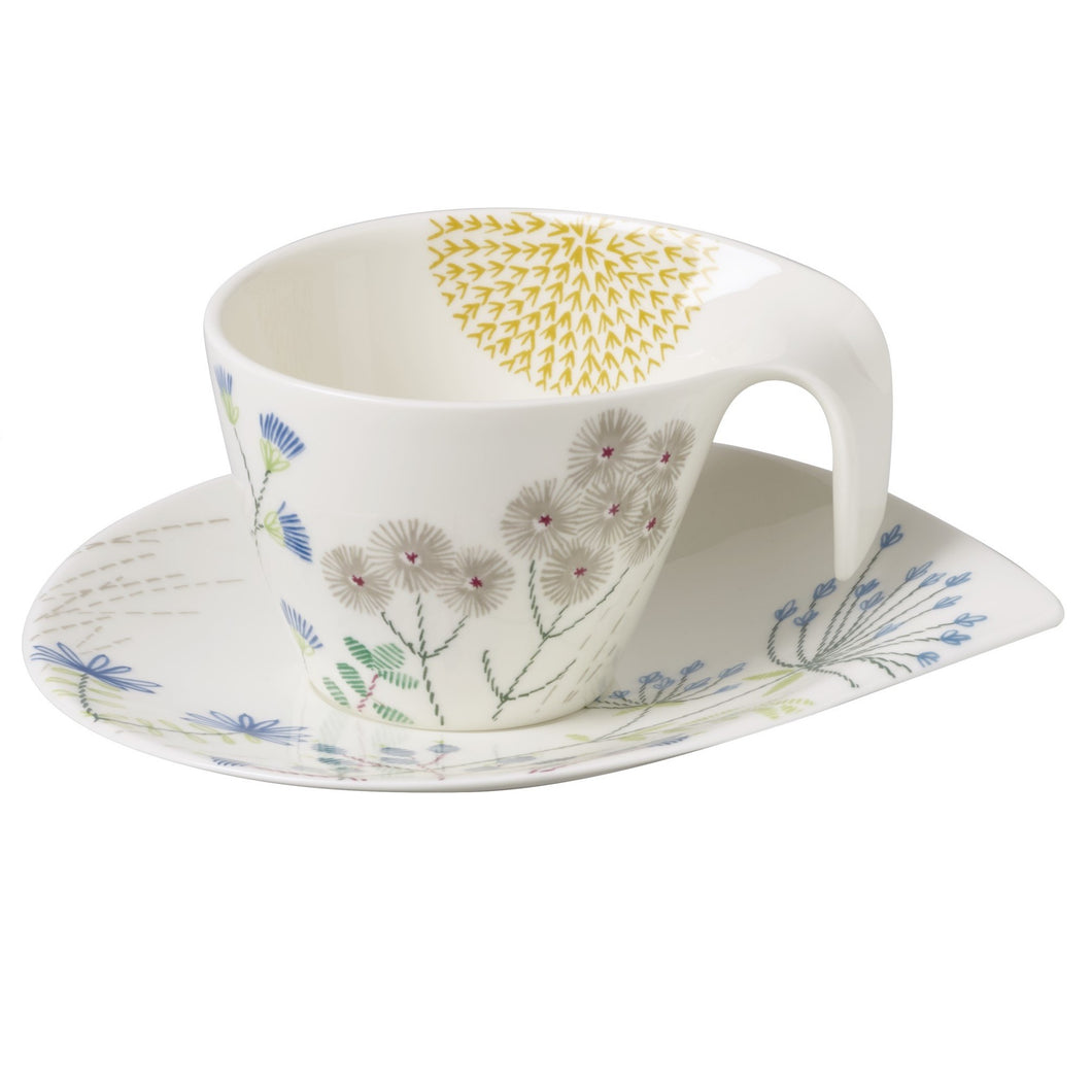 Flow Couture breakfast cup with saucer set 6 person