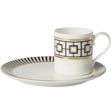 Load image into Gallery viewer, MetroChic espresso coffee cups with saucers set 6  person