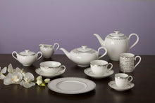 Load image into Gallery viewer, White Lace Coffee Set 6 person on 17 pieces
